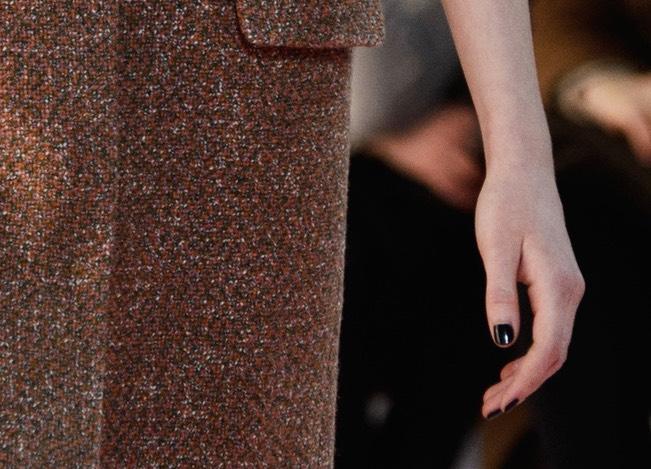 Smalto nero moda inverno 2015 Dior