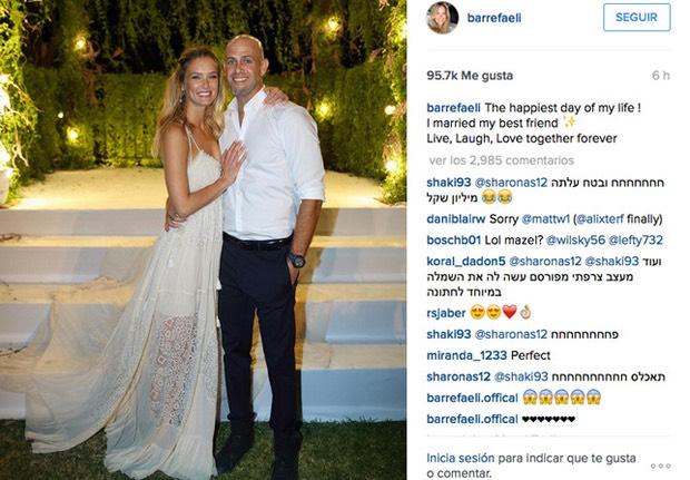 Bar Rafaeli abito da sposa Instagram