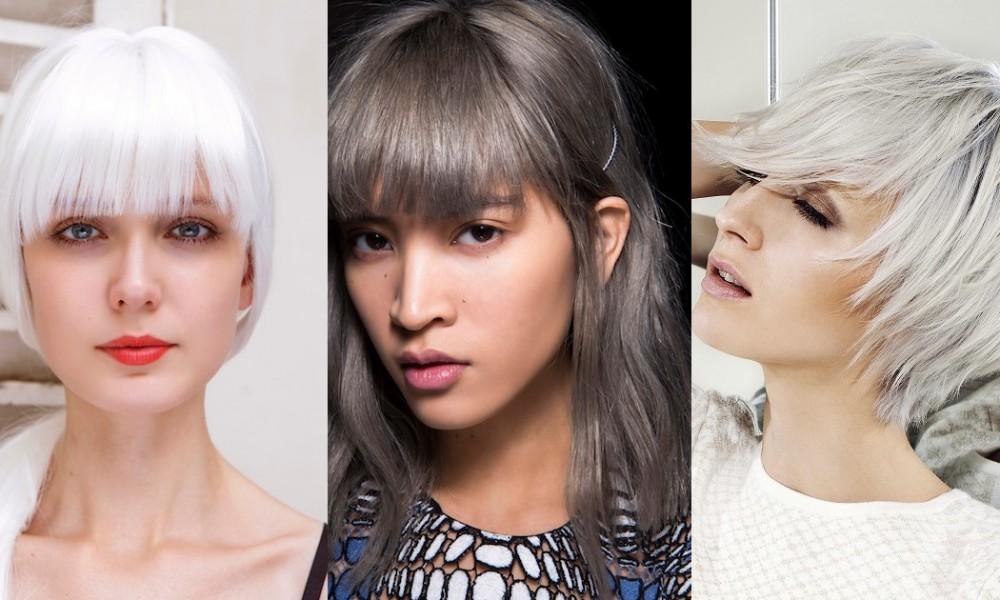 Capelli estate 2016 dal grigio al bianco corti e lunghi - Bagno di colore grigio capelli ...