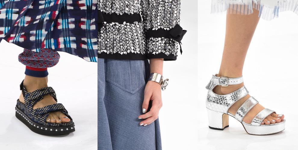 Chanel smalto argento mani piedi estate 2016