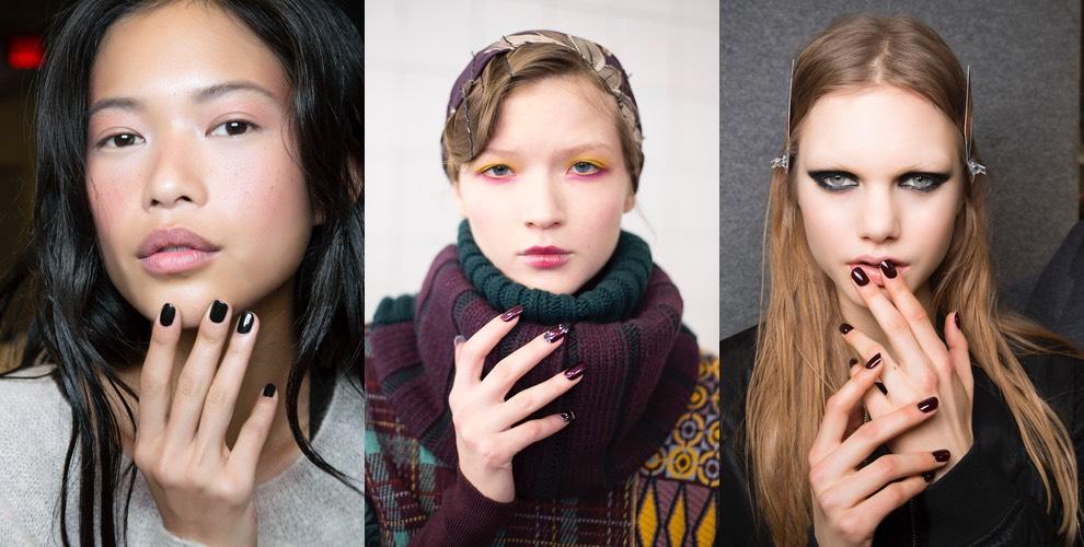 Unghie inverno 2015 moda colore forma