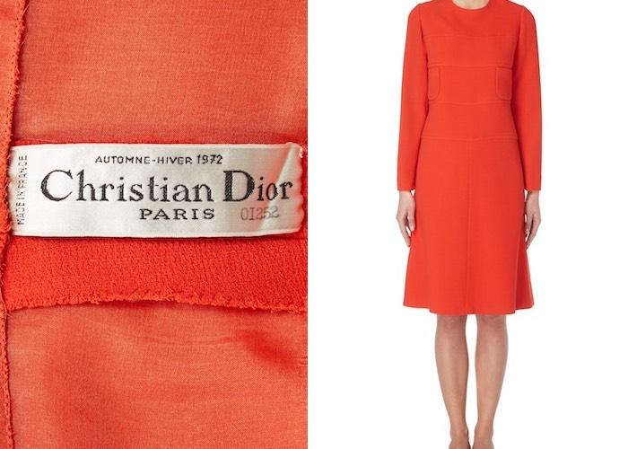 abito vintage dior couture