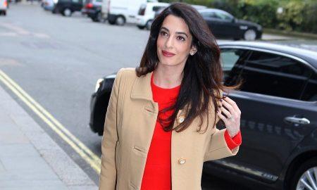 Amal Clooney incinta vestiti premaman