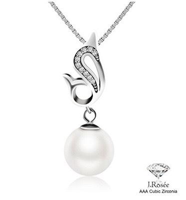 collana 2017 argento zirconia perla