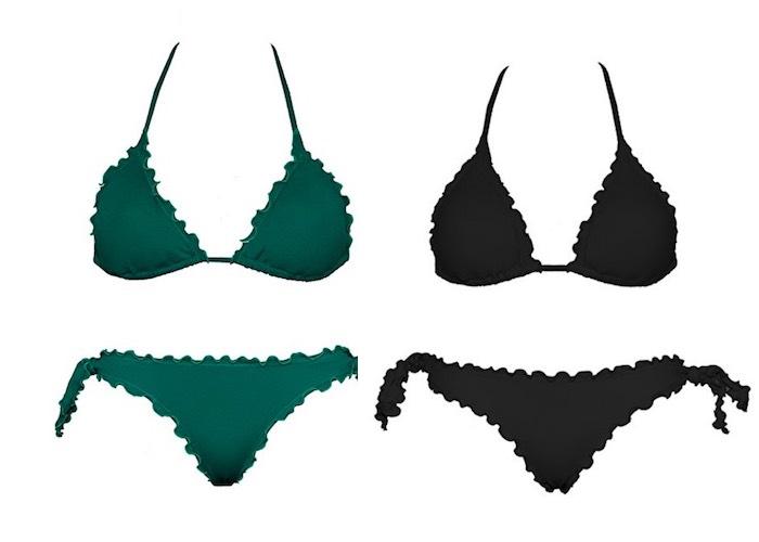 bikini arricciati moda mare 2017