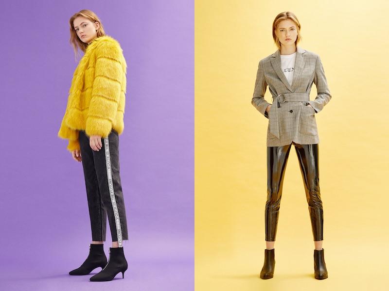 Bershka giacca pelle gialla