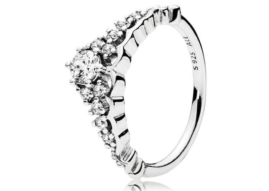anello pandora tiara oro