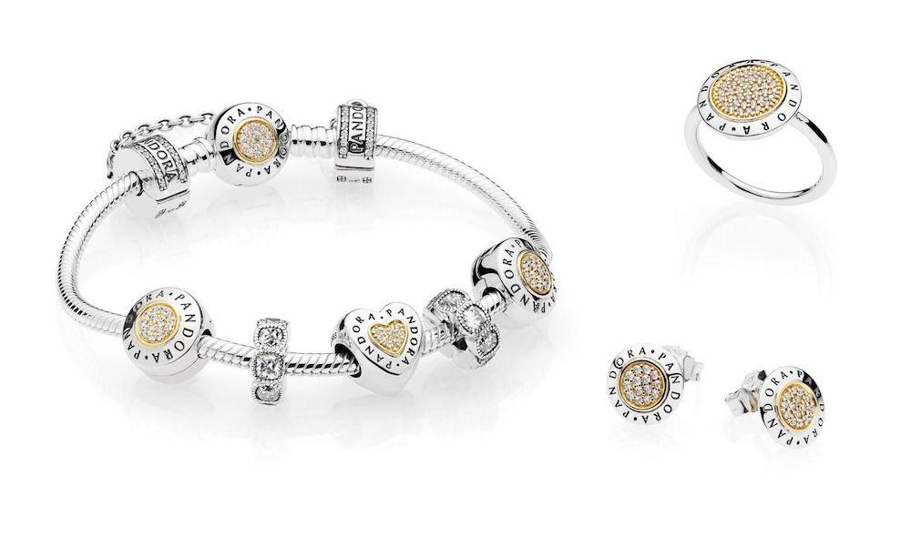 braccialetti donna pandora oro