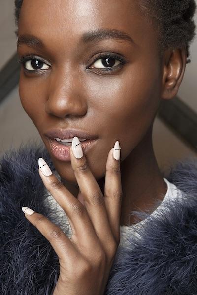 manicure bianca oro inverno 2017 2018