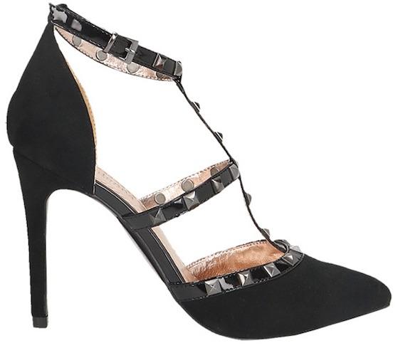 Primadonna scarpe borchie con tacco 2018 09753616121d