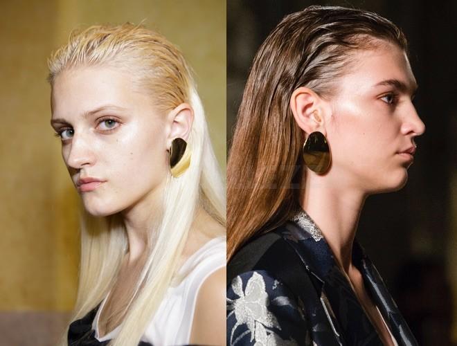 capelli indietro effetto bagnato 2018
