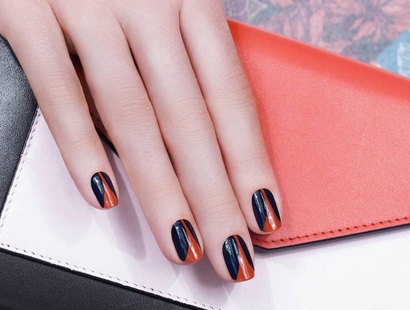Jiil Soon nail art nero arancio inverno 2018
