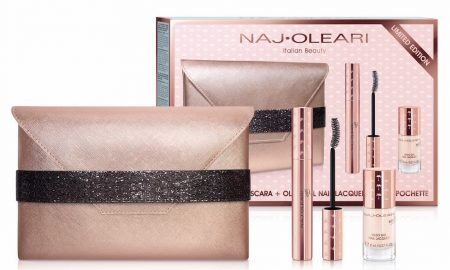 Naj Oleari make-up e pochette Natale 2017