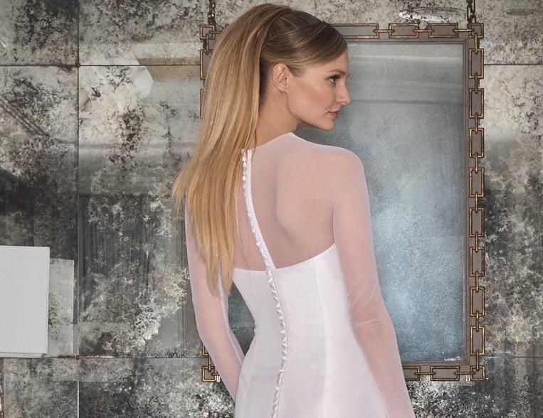 Romona Kezeva abito acconciatura sposa 2018