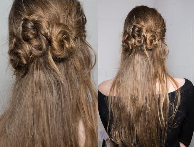 capelli acconciatura sposa semiraccolto 2018