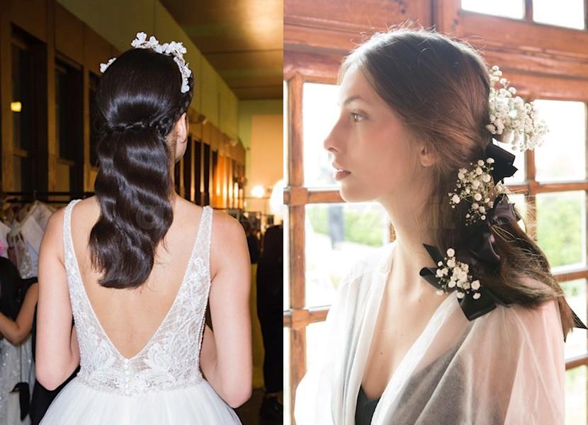 capelli semi raccolto sposa 2018