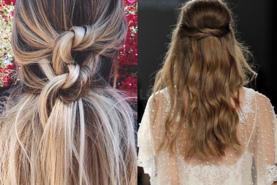 capelli sposa 2018 semiraccolto