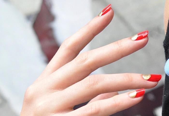 nail art natale pure gold