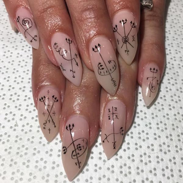 nail art inverno 2018 segni zodiacali