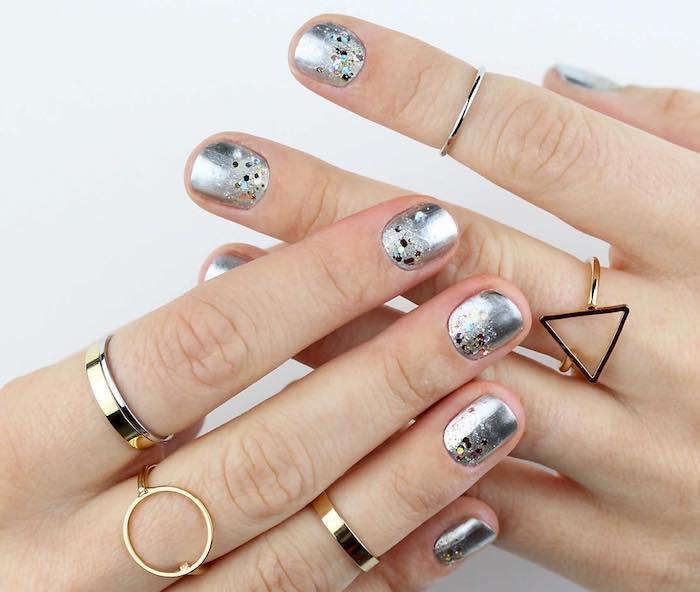 nail art unghie corte capodanno 2018