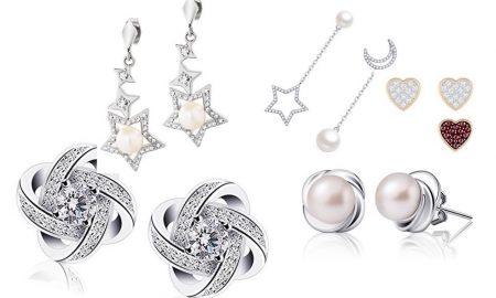 orecchini economici argento zirconi amazon