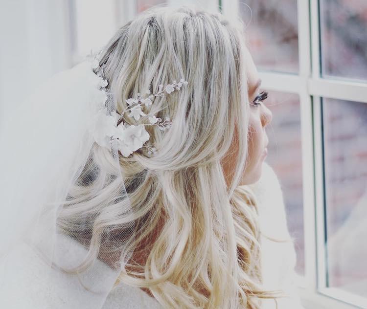 sposa inverno 2018 acconciatura sciolti velo