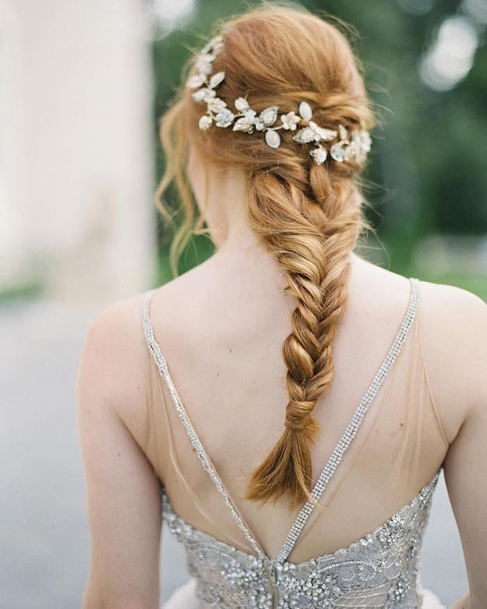 treccia a spiga conaccessorio gioiello sposa 2018