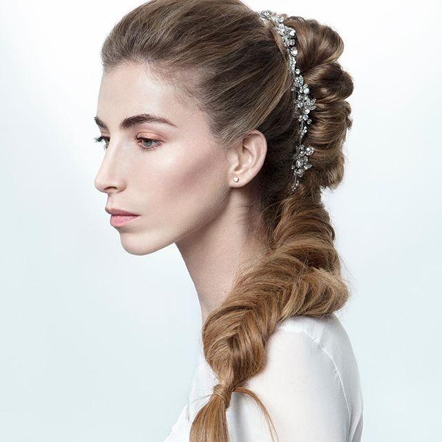 trecccia lunga per sposa capelli 2018