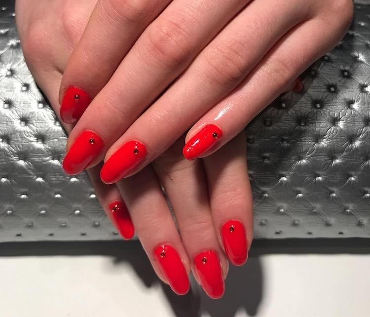 unghie gel rosse nail art 2018
