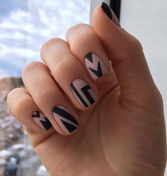 unghie invernali 2018-smalto matt nail art