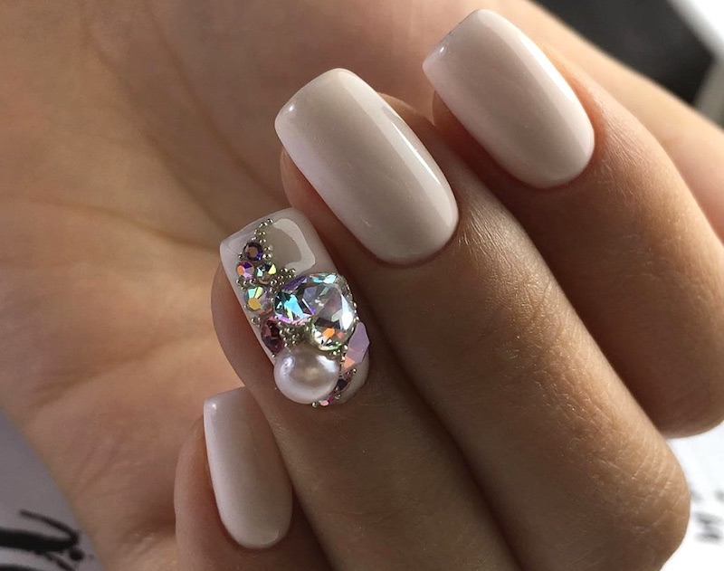 unghie invernali nail art gioiello 2017 2018
