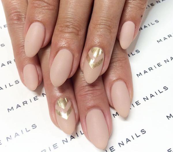 nail art natale finish opaco