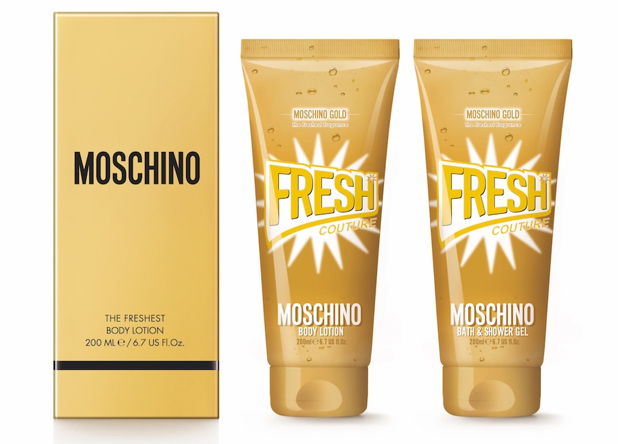 Gold Fresh Couture Moschino_linea bagno