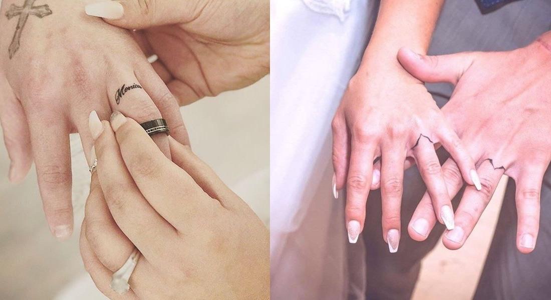 Tatuaggi anulare matrimoniali