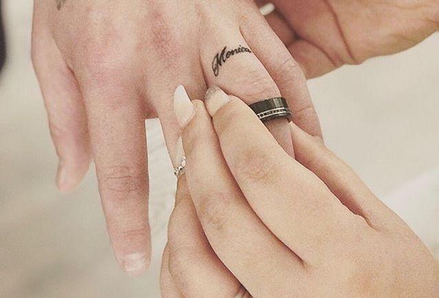Tatuaggio romantico matrimonio