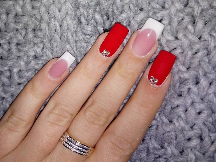 Unghie Natale 2017-french manicure particolare