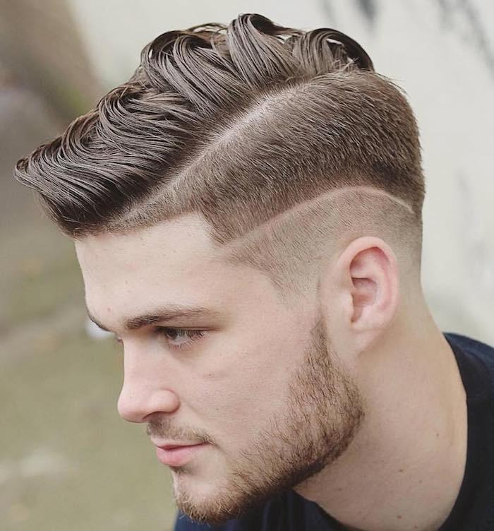 Taglio capelli fronte bassa uomo