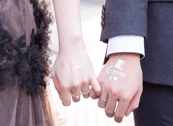 tatuaggi temporanei matrimonio