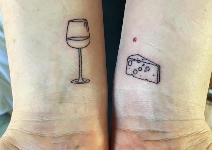 tatuaggio coppia tema cibo