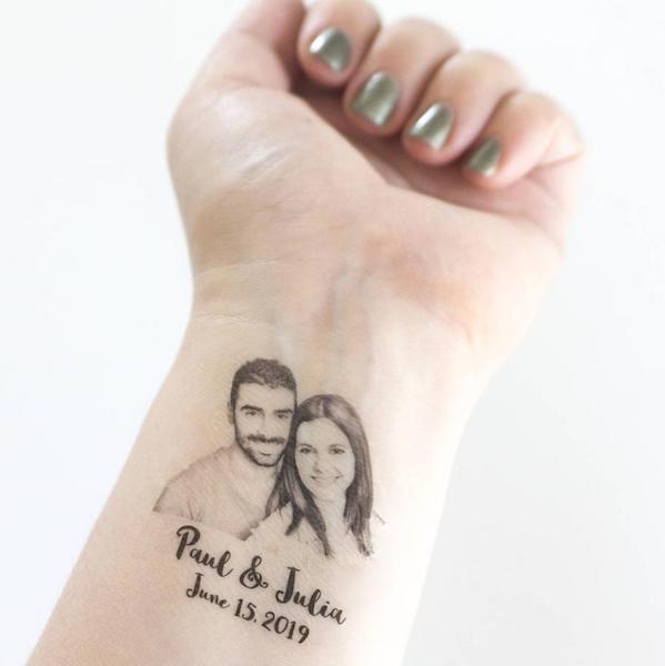 tatuaggio temporaneo polso data nozze