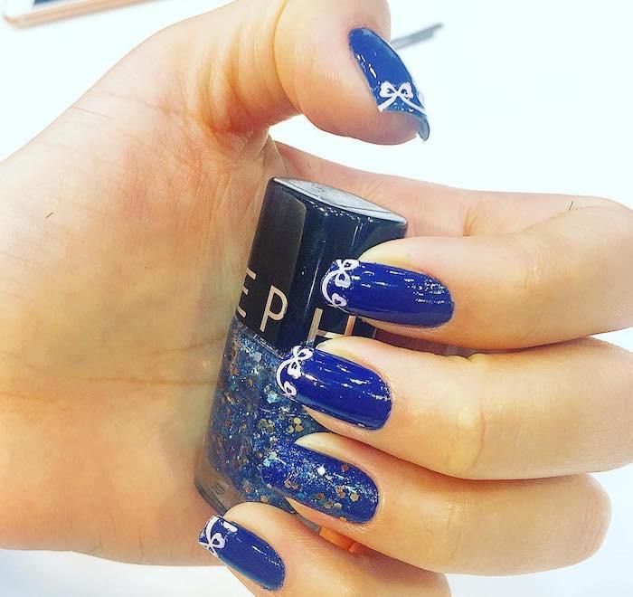 unghie di natale blu smalto sephora