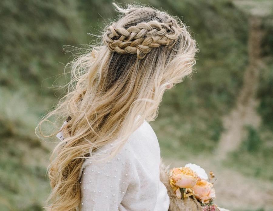 capellisciolti semiraccolto sposa 2018 doppia treccia