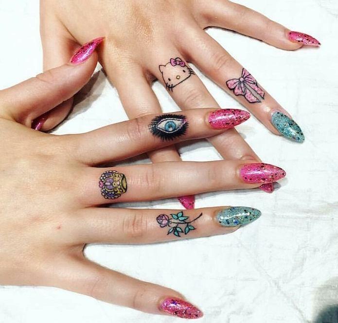 finger tattoo sulle dita