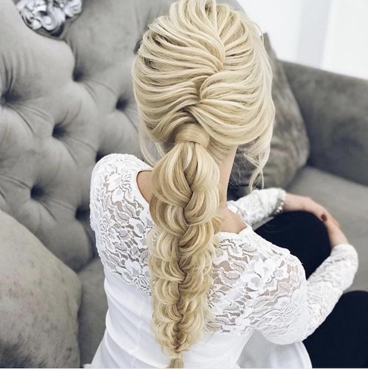 treccia sposa lunga morbida capelli 2018