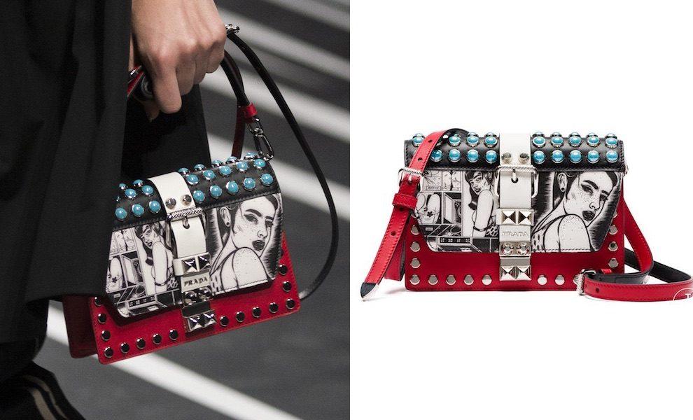 f705dec3e3 Borse Prada, nere piccole grandi e con stampe colorate. Tutte le nuove borse  a mano e tracolla primavera estate di Prada Milano.