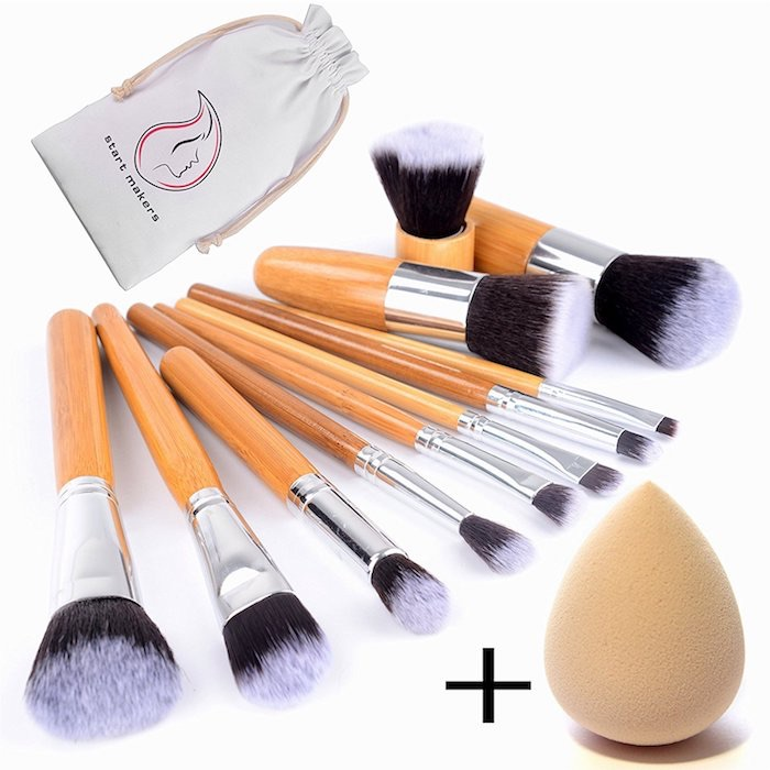 set pennelli trucco naturali amazon