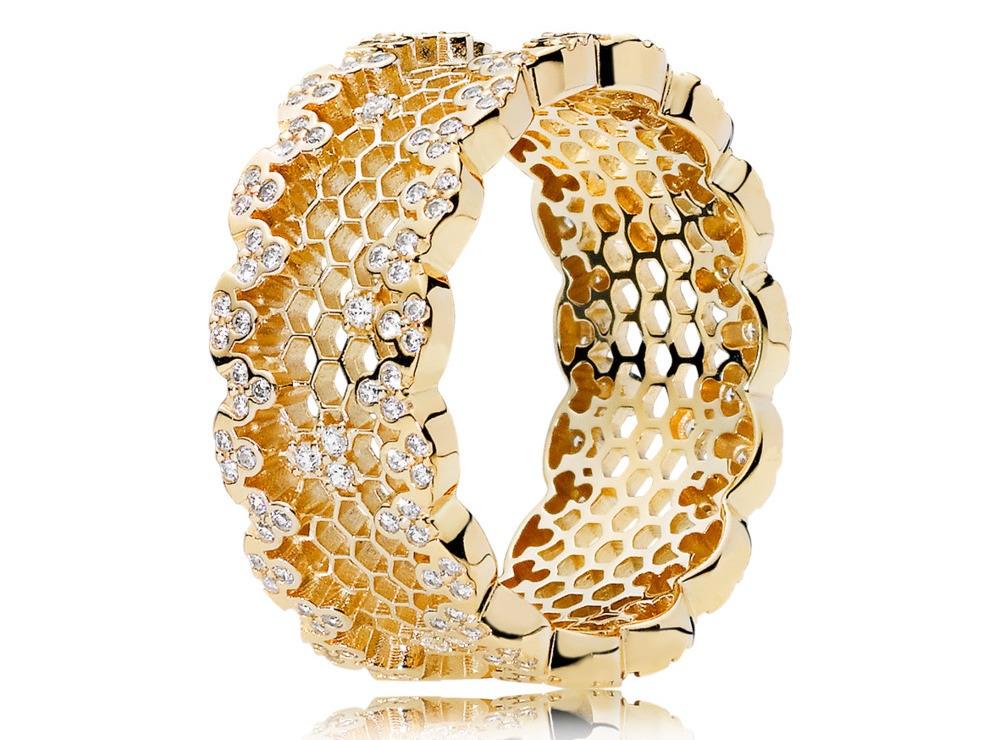 anello pandora dorato