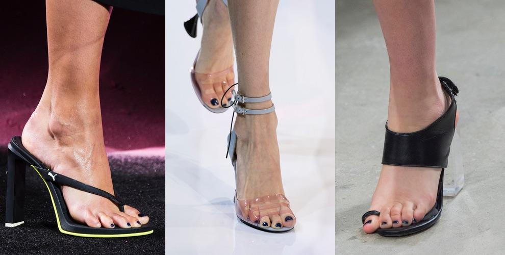 Smalt0 nero unghie piedi estate 2018