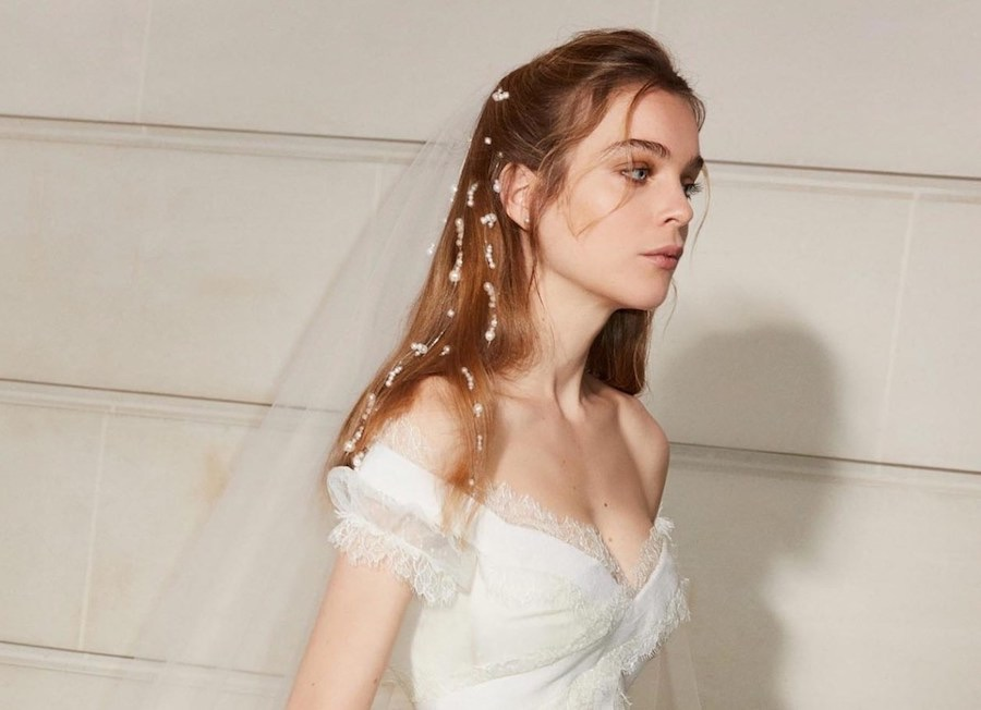 capelli sposa 2019 acconciatura semiraccolta