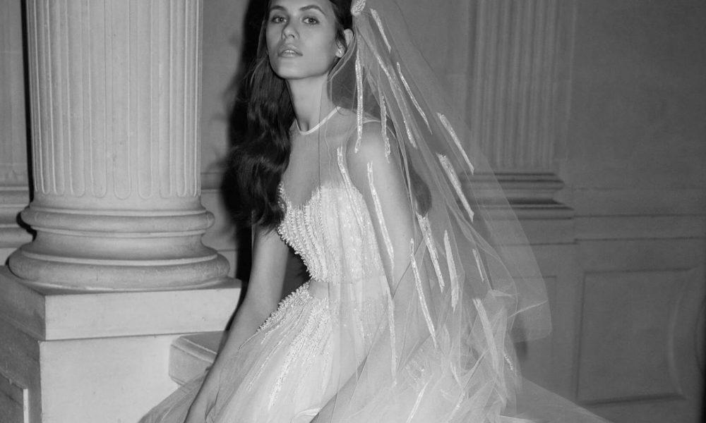 capelli sposa con velo acconciature 2019